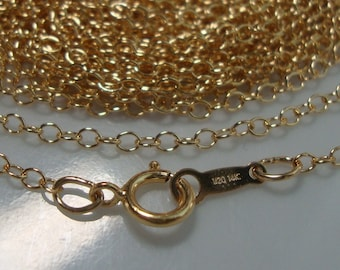 Bulk 4 pcs, 16 Inches, 2mm wide, 14K 14Kt Gold Filled Finished Cable Chain, 2mm wide links, Hallmarked