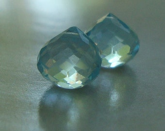 6 pcs, 6.5-7.50mm, AAA, Genuine Sky Blue Topaz Micro Faceted Onion Briolette