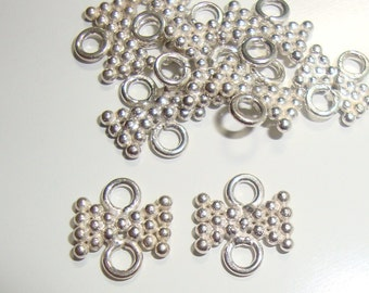 925 Sterling Silver, Cute tiny little Bow Link connector, Chandelier, earring findings-6 pcs, 8x7mm