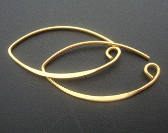 6 pairs, 35x19 mm, Bali Artisans, 24k Vermeil over 925 Sterling Silver SEXY Earwires - bulk buy - EW-0016