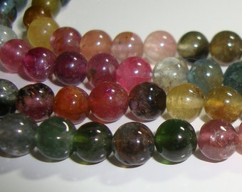 25% off, Full Strand, 3.7mm, Gorgeous Watermelon Sparkling Tourmaline Smooth Round Beads