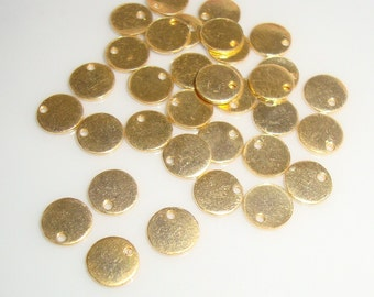 20 pcs, 6mm 24K Gold Vermeil over Sterling Silver, Handmade disc, High Polished, stamping, tag, tiny pendant