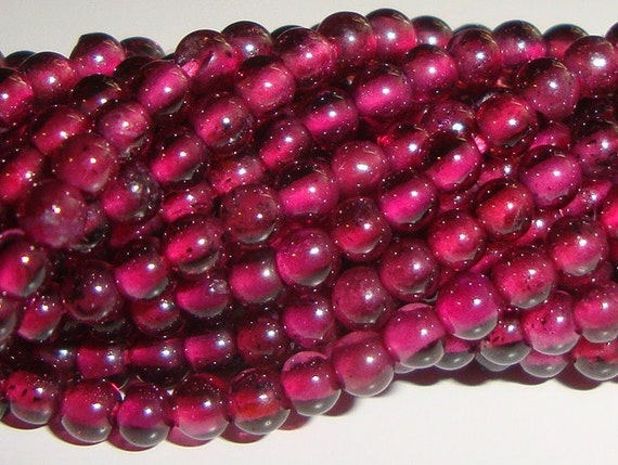 2 x 16 Inch Strand, 3-3.5mm, So pretty and cute, beautiful Baby Raspberry Rhodolite Garnet Smooth Round Beads