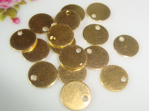 10 pcs, 6mm, 24g gauge ga g, 24K Gold Vermeil over Sterling Silver, Handmade disc, High Polished, stamping, tag, tiny pendant