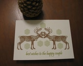 Reindeer Couple Card for Wedding and Anniversary