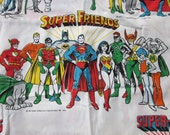 70s Super Friends and Super Villains Fabric - 96 x 120