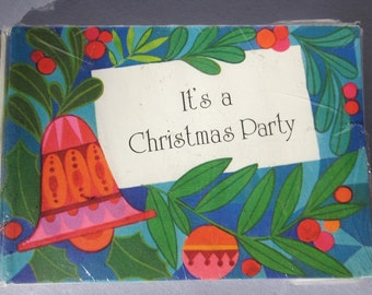 12 Christmas Party Invites - 60s / 70s