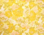 Yellow Floral Vintage Sheet - Fat Quarter (FY005)