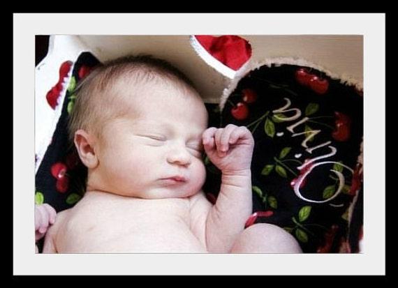 Bib and Burp Cloth Set- Baby Girl Bib set- Baby Bib and Burp Cloth-Personalized- Any Fabric