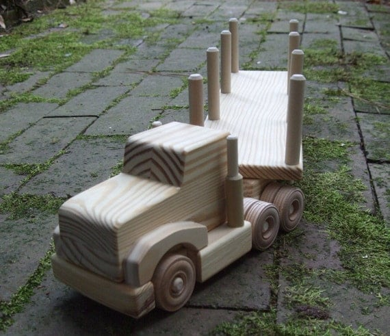Wooden Toy Wee Log Hauler