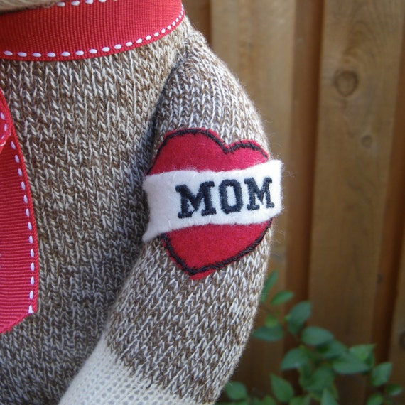 Sock Monkey Doll-Mom Tattoo