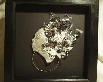 Silver Butterflies Small Square Boxed Image