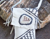 OOAK Anasazi Pottery Shard Medicine Bag or Cell Phone Case Neck Pouch Ancient Ones