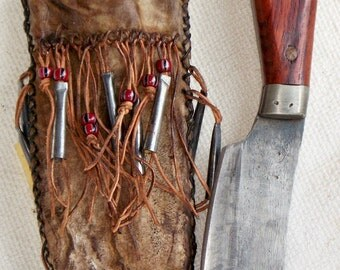 Order Request for Primitive Nessmuk Hunting Knife with Rawhide Sheath