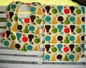 Bib and Burp Set...Apples and Pears