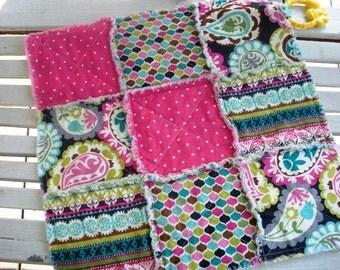 Rag Quilt Lovey in Vibrant Paisley