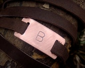 Custom Monogram Adjustable Ultra Long Leather Wrap Bracelet