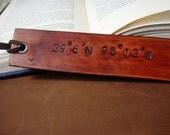 Secret Location - Custom Latitude and Longitude Leather Bookmark