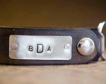 Personalized Leather Key Chain Accessory, Anniversary Gift, Custom Keychain, Wedding Gift, Monogram Initials Leather Key Chain -