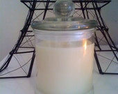 Double Wick Organic Soy Candle in large French Apothecary jar - 100 scents to choose from