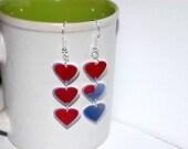 The Legend of Zelda heart container earrings