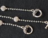 Celtic Hematite and Pewter Bracelet