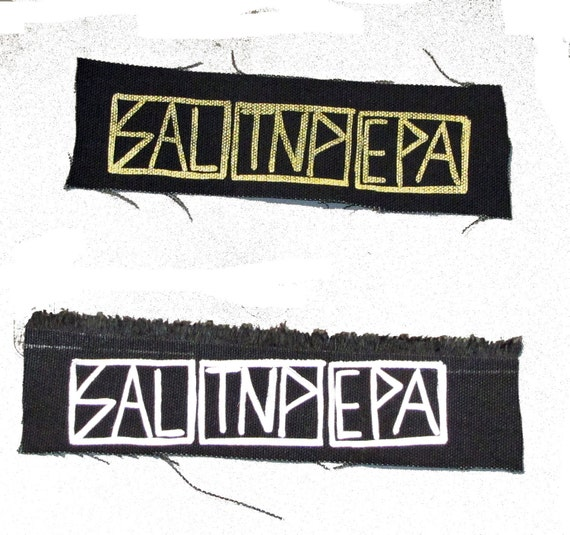 Salt'N'Pepa Patch Subhumans Punk Hip Hop 90's