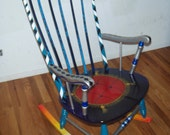 Royal Rocking Chair - Hand Painted
