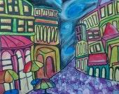 French Sidewalk  - Twisted Pastel - 16 x 20 Print