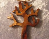 Tree shaped Camphor wood pendant