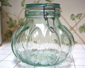 Reserved for Atay Fabulous Scalloped Glass Canister