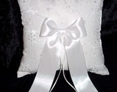 SNOWFLAKE Wedding Ring Bearer Pillow Winter Theme  WHITE or IVORY