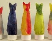 Cat sculpture LED votive