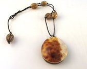 Cowrie Shell and Betel Nut Necklace SALE