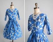 Vintage 1950s Dress : Garden Party Mad Men Dress