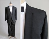 Vintage 1960s Tuxedo : 60s Mad Men Black Tux