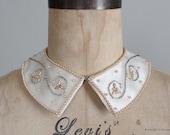 Vintage 1950s Beaded Collar : 50s 60s Beaded Sweater Collar