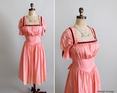 Vintage 1930s Dress : 30s 40s Taffeta Party Dress