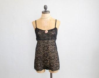 Vintage 1920s Lingerie : 20s 30s Lace Teddy