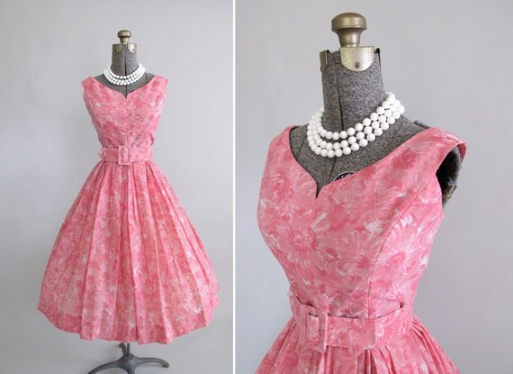 Vintage 1950s Jerry Gilden Spectator Party Dress