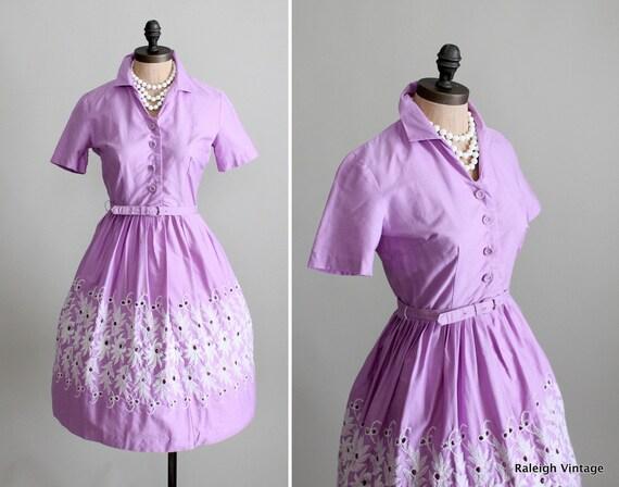 Vintage 1960s Dress : 60s Mad Men Shirtwaist Dress
