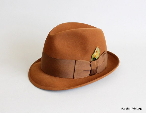 RESERVED...Vintage 1950s Fedora : 50s 60s Mad Men Beaver Fedora Hat Menswear