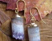 Crystal Cave- Amethyst Stalactite earrings