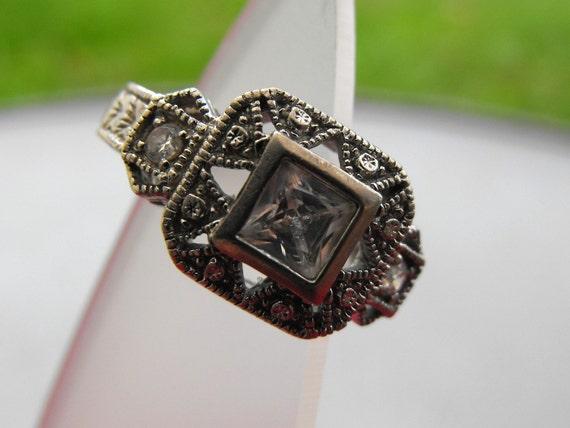 Vintage Sterling Filagree Ring