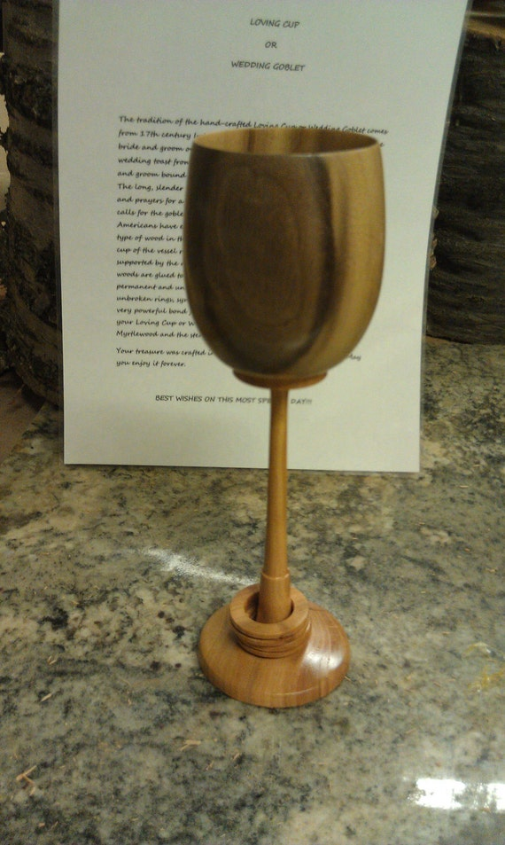 Loving Cup or Wedding Goblet in Myrtle and Cherry