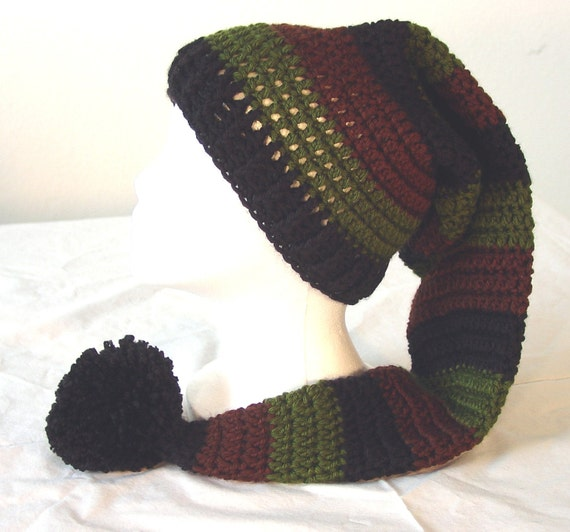 Items similar to Adult Long Stocking Elf Hat Pattern ...
