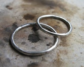 Sterling Silver His and Hers Stacking Rings