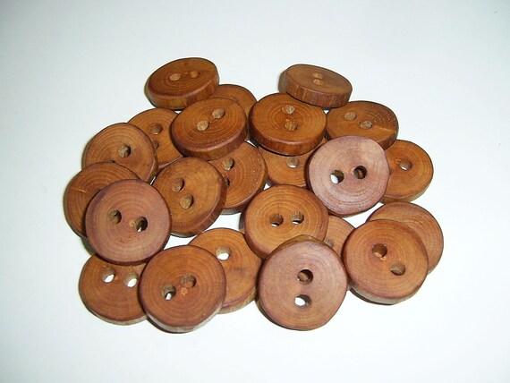 23 Handmade  apple wood buttons, accessories