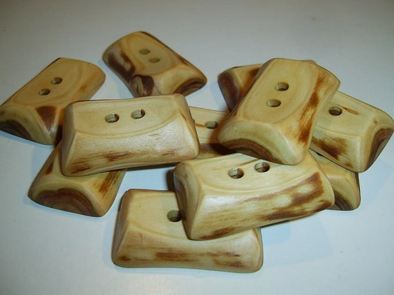 11 Handmade  wood buttons, accessories