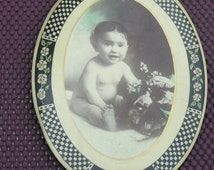 Antique Celluloid Baby Nude Photo Picture